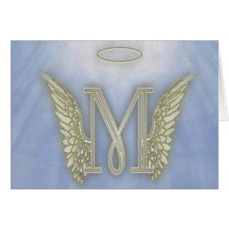 Letter M Angel Monogram Greeting Card