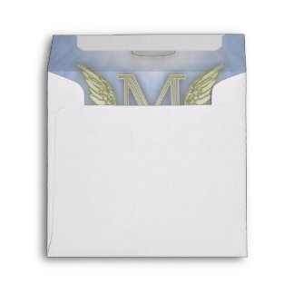 Letter M Angel Monogram Envelope