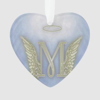 Letter M Angel Monogram Ornament