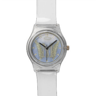 Letter M Angel Monogram Wrist Watches
