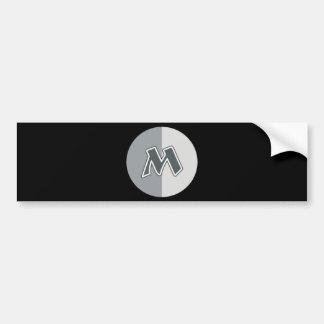 Letter M Bumper Sticker