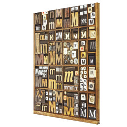 Letter M Canvas Print