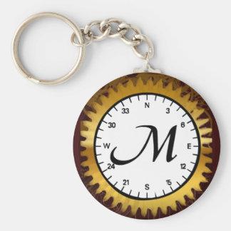 Letter M Clockwork Keychain