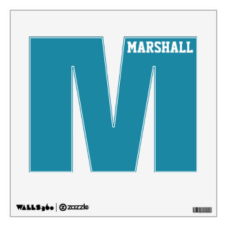 LETTER M custom name & color wall decal
