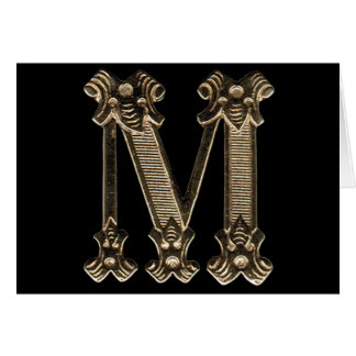 Letter M Horizontal Blank-Inside Card