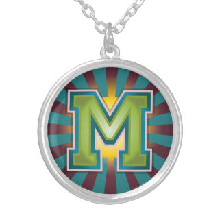 Letter 'M' Inital Silver Plated Necklace