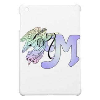 Letter M Initial Monogram Guardian Angel Blue Past iPad Mini Cover