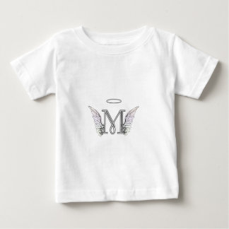 Letter M Initial Monogram with Angel Wings & Halo T-shirt