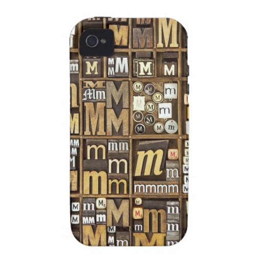 Letter M iPhone 4/4S Cases
