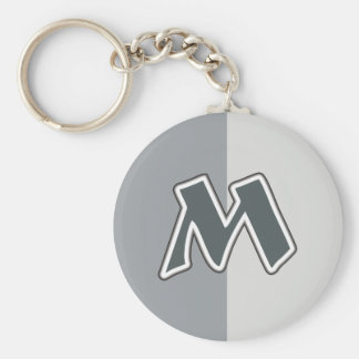 Letter M Keychain