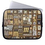Letter M Laptop Computer Sleeve