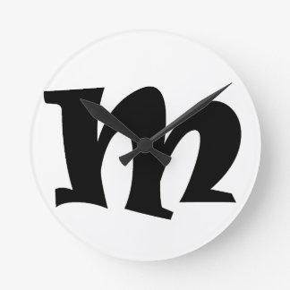 Letter M_large Wall Clock