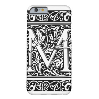 Letter M Medieval Monogram Vintage Initial Barely There iPhone 6 Case