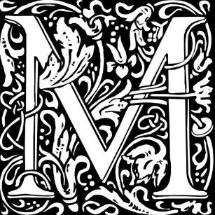 Letter M Monogram Lapel Pins Zazzle
