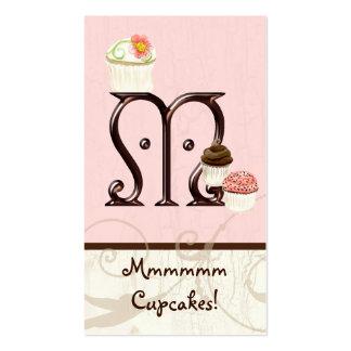 Letter M Monogram Dessert Bakery Business Cards