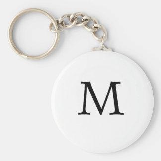 Letter M Monogram Keychain
