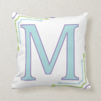 Letter M - Monogram Pillow