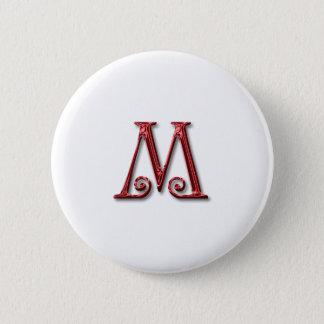Letter M Monogram Pinback Button