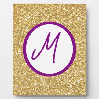 Monogram letter photo plaques zazzle for Letter plaques