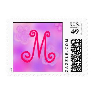 Letter M Monogram Stamp