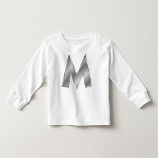Letter M Monogram Toddler Long Sleeve T-Shirt