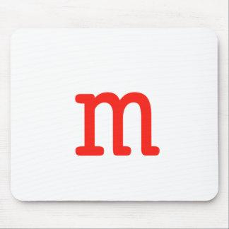 Letter m mouse pad