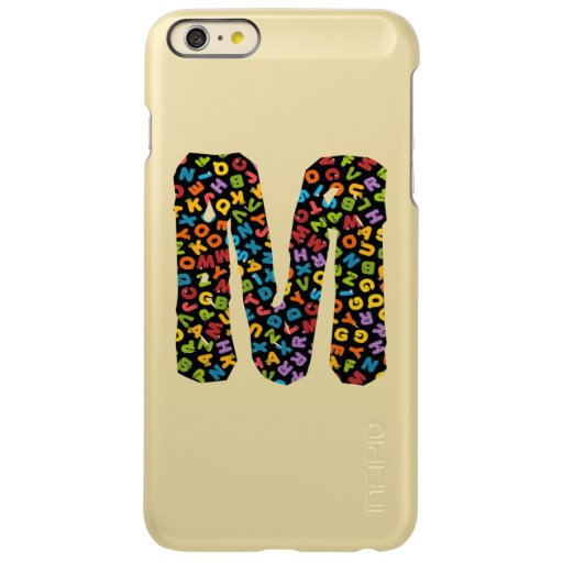 Letter M Ornamented With the Alphabet Incipio Feather Shine iPhone 6 Plus Case
