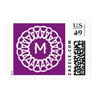 Letter M Postage