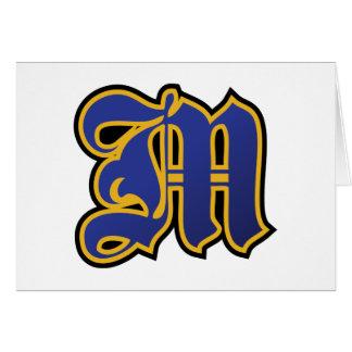 """Letter """"M"""" Symbol Card"""