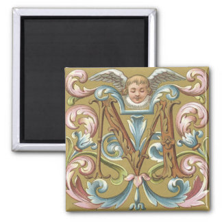 Letter M With Angel - Magnet