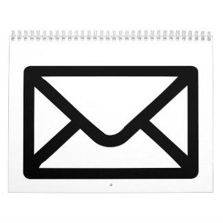 Letter mail envelope calendar