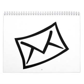 Letter mail envelope icon calendar