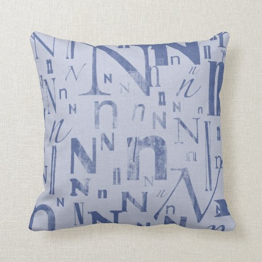 Letter N (2) Pillows