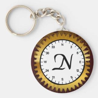 Letter N Clockwork Keychain