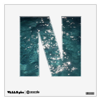 """Letter """" N """" Decal  - Sparkling Swimming Pool"""