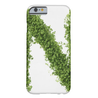 Letter 'N' in cress on white background, Barely There iPhone 6 Case