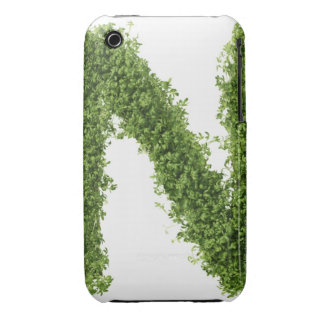 Letter 'N' in cress on white background, iPhone 3 Case