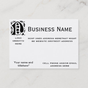 Black and white monogram n business cards templates zazzle letter n monogrammed business card colourmoves