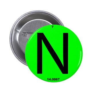 Letter N periodic table Pinback Button