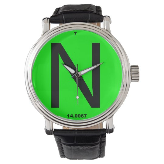 Letter N periodic table Watches