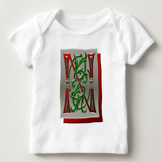 Letter N Pictorial Alphabet monogram Baby T-Shirt
