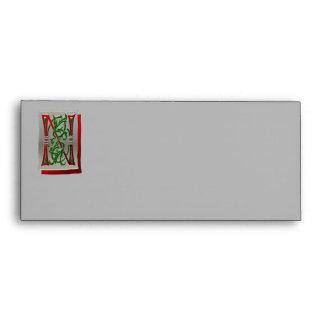 Letter N Pictorial Alphabet monogram Envelope