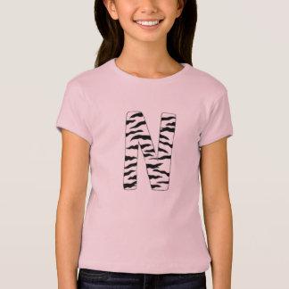 """Letter """"N"""" zebra print T-Shirt"""