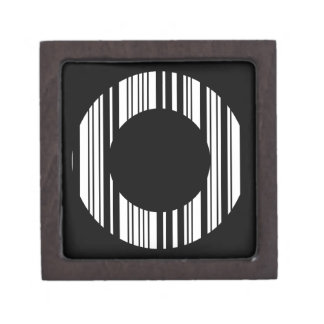 LETTER O BAR CODE First Initial Barcode Pattern Gift Box