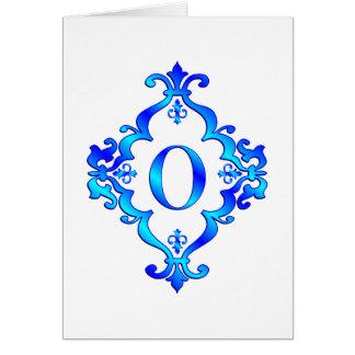 Letter O Blue Card