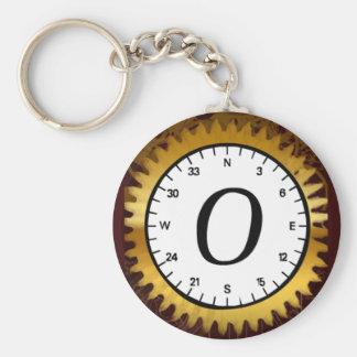 Letter O Clockwork Keychain