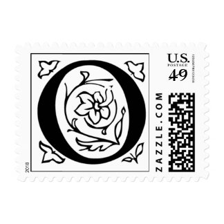 Letter O Fancy Initial Postage Stamps