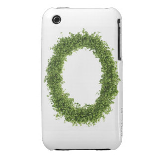 Letter 'O' in cress on white background, Case-Mate iPhone 3 Cases