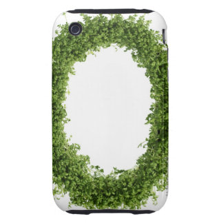 Letter 'O' in cress on white background, iPhone 3 Tough Case