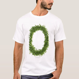 Letter 'O' in cress on white background, T-Shirt